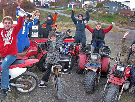 Bikes For Boys Age 11 A group of about eight boys